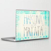 hakuna Laptop & iPad Skins featuring Hakuna Matata by Sara Eshak