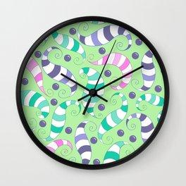Crazy Twisters Pattern Print Wall Clock