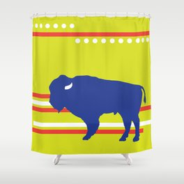 Bison striped Shower Curtain