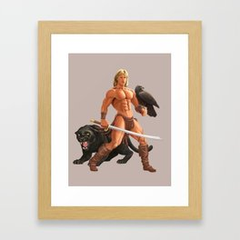 ACTION HERO HUNK: DAR Framed Art Print