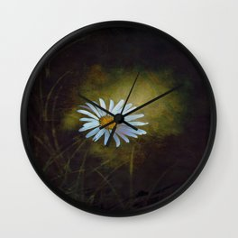 Marquerite in the darkness Wall Clock