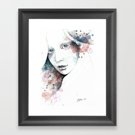 Unfinished Sympathy, watercolor & pencil study Framed Art Print