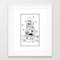 flcl Framed Art Prints featuring Mamimi Samejima Zombie by rarb