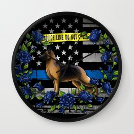 Thin Blue Line USA Version Wall Clock