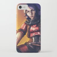 gladiator iPhone & iPod Cases featuring Borderlands - Athena The Gladiator by Chooone