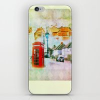 england iPhone & iPod Skins featuring England by Lora