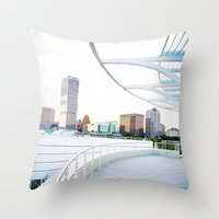 milwaukee Throw Pillows featuring Milwaukee by Andrea Coan