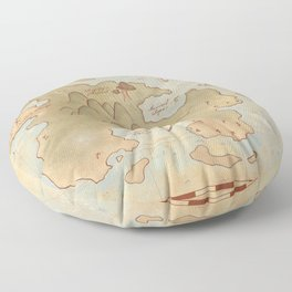 Map of Neverland Floor Pillow