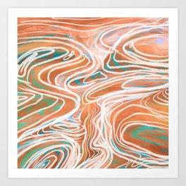 Abstract Canyons Art Print
