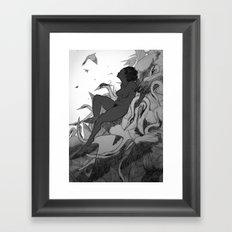 To a Winter Home Framed Art Print
