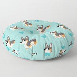 Tri-Color Corgi Pups Floor Pillow