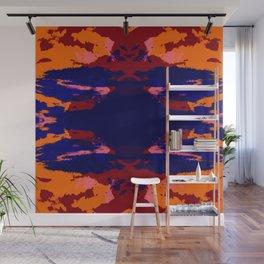 Reddish Abstract Art Ink Blot Rorschach Wall Mural