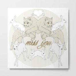 Miss You (Kitsch Symmetry series)  Metal Print