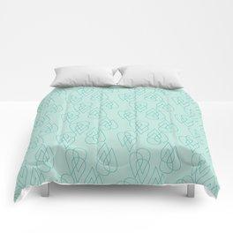 Rain Drops in Green Comforters