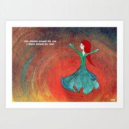 Dervish sufi dance Art Print