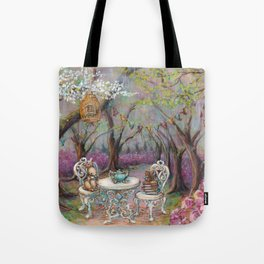Vintage Woodland Tea Party Tote Bag