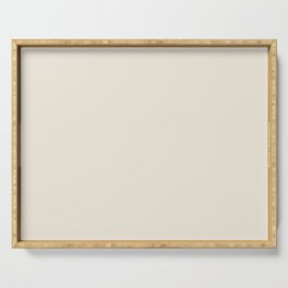 Sherwin Williams Creamy (Off White) SW 7012 Solid Color Serving Tray