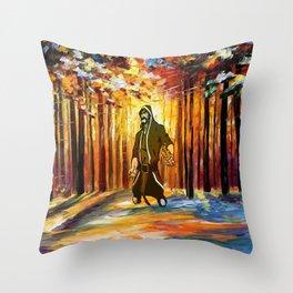 handsome art Throw Pillow