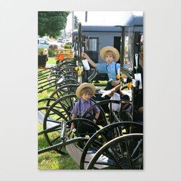 The Amish Buggy  Canvas Print