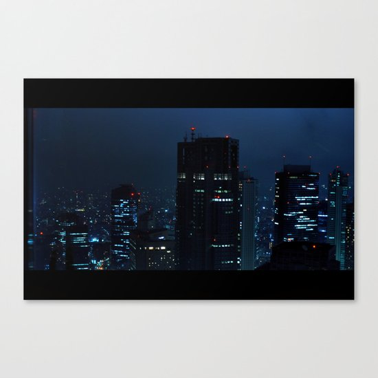 Lost in Translation - Tokyo Blues Canvas Print