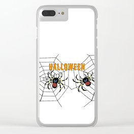 Halloween two big Spider Clear iPhone Case
