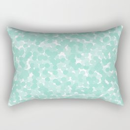 Beach Glass Polka Dot Bubbles Rectangular Pillow