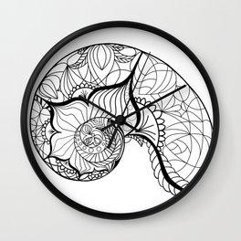 Nautilus Mandala Wall Clock