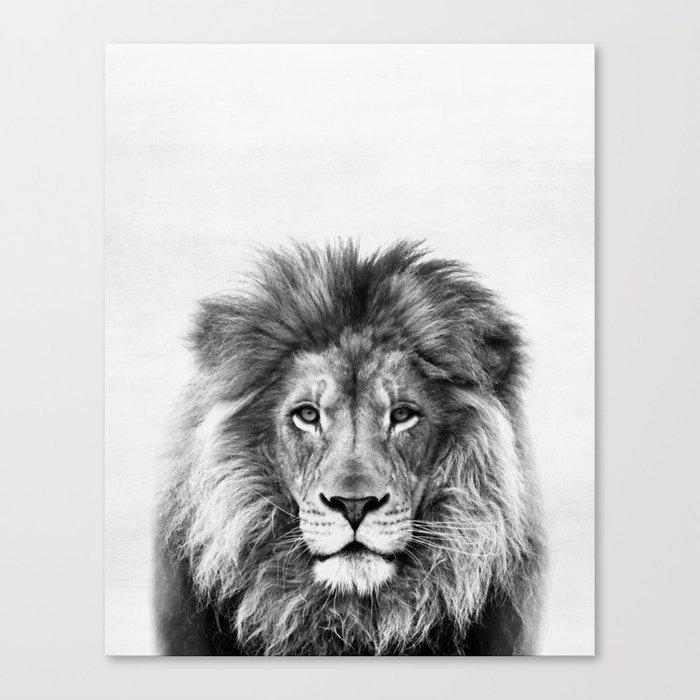 Lion, Animal, Minimal, Trendy decor, Nursery, Interior, Wall art, Photo Canvas Print