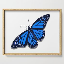 Blue Monarch Butterfly Serving Tray