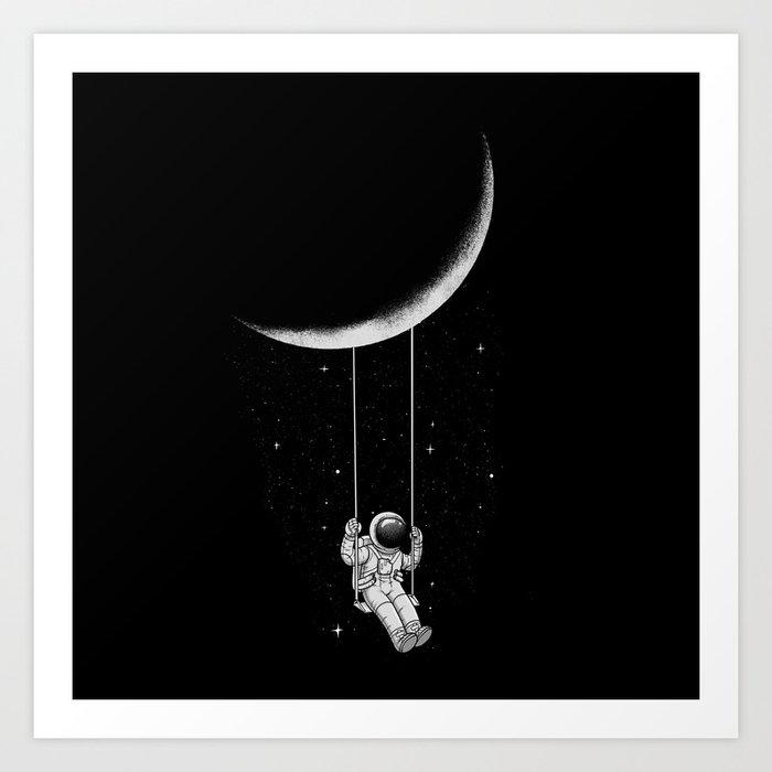 Moon Swing Kunstdrucke