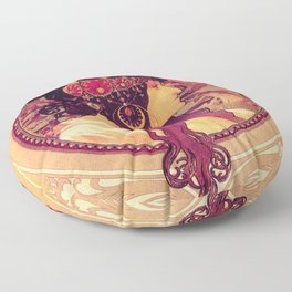 Alphonse Mucha, Art Nouveau Floor Pillow