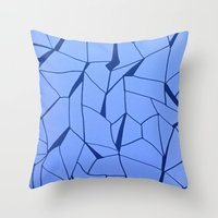 blueprint Throw Pillows featuring BluePrint by Elina Larsson