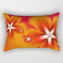 Fleur d'Automne Fractal Rectangular Pillow