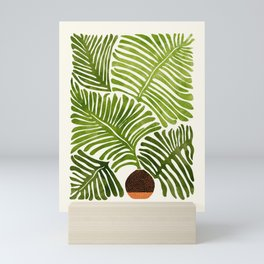 Summer Fern / Simple Modern Watercolor Mini Art Print