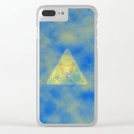 Abstract Triangle Clear iPhone Case