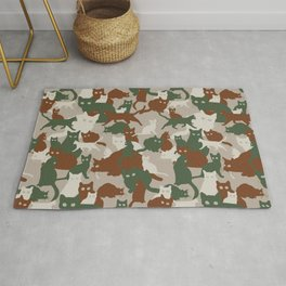 Find a cat (seamless camo pattern) Rug