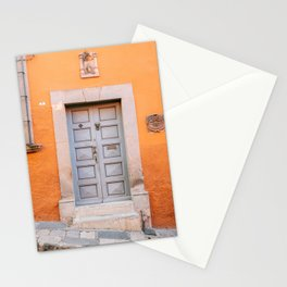 Orange and grey | The San Miguel de Allende Mexico door collection | Travel photography print Stationery Cards