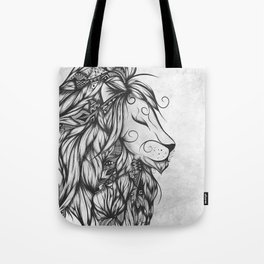 Poetic Lion B&W Tote Bag