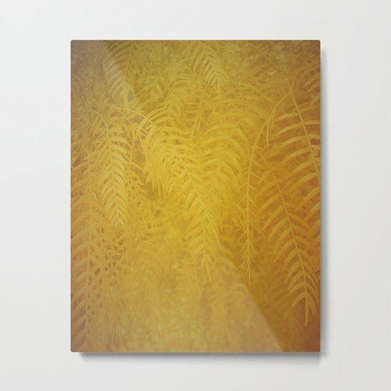 Gold Leaves Metal Print