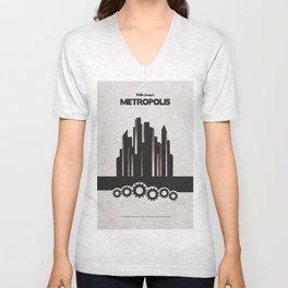 Fritz Lang's Metropolis Alternative Minimalist Poster Unisex V-Neck