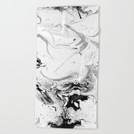 // MARBLED WHITE // Beach Towel