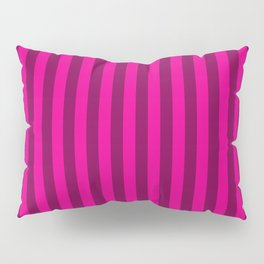 Hot Pink Stripes Pattern Pillow Sham