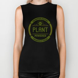 100% Plant Powered & Organically Fueled Green Badge Biker Tank
