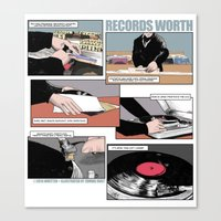 records Canvas Prints featuring Records Worth by Zombie Rust