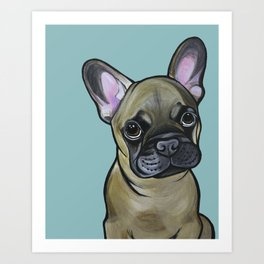 Armand the Frenchie Pup Art Print