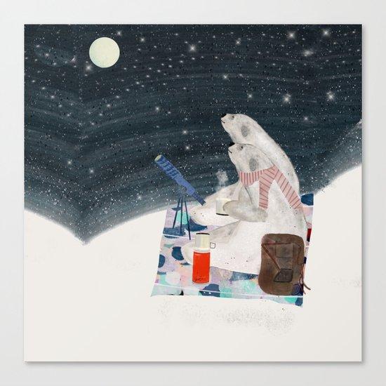 the stargazers Canvas Print