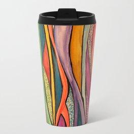Watercolor pattern Metal Travel Mug