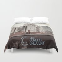 montreal Duvet Covers featuring Montreal -Alley by Doug Dugas