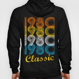 37th Birthday Gift Vintage 1980 T-Shirt for Men & Women T-Shirts and Hoodies Hoody