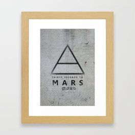 30 Seconds to Mars - stencil on brick wall Framed Art Print